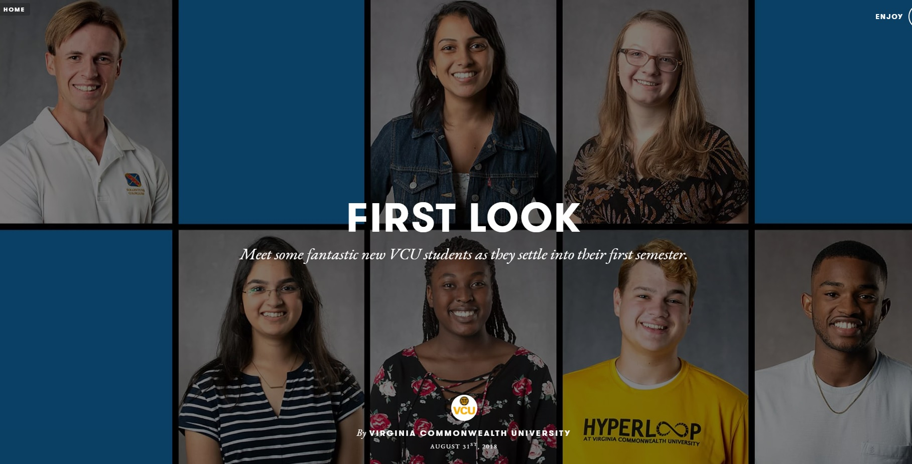 seven freshman VCU students that represent the 2018-2019 school year