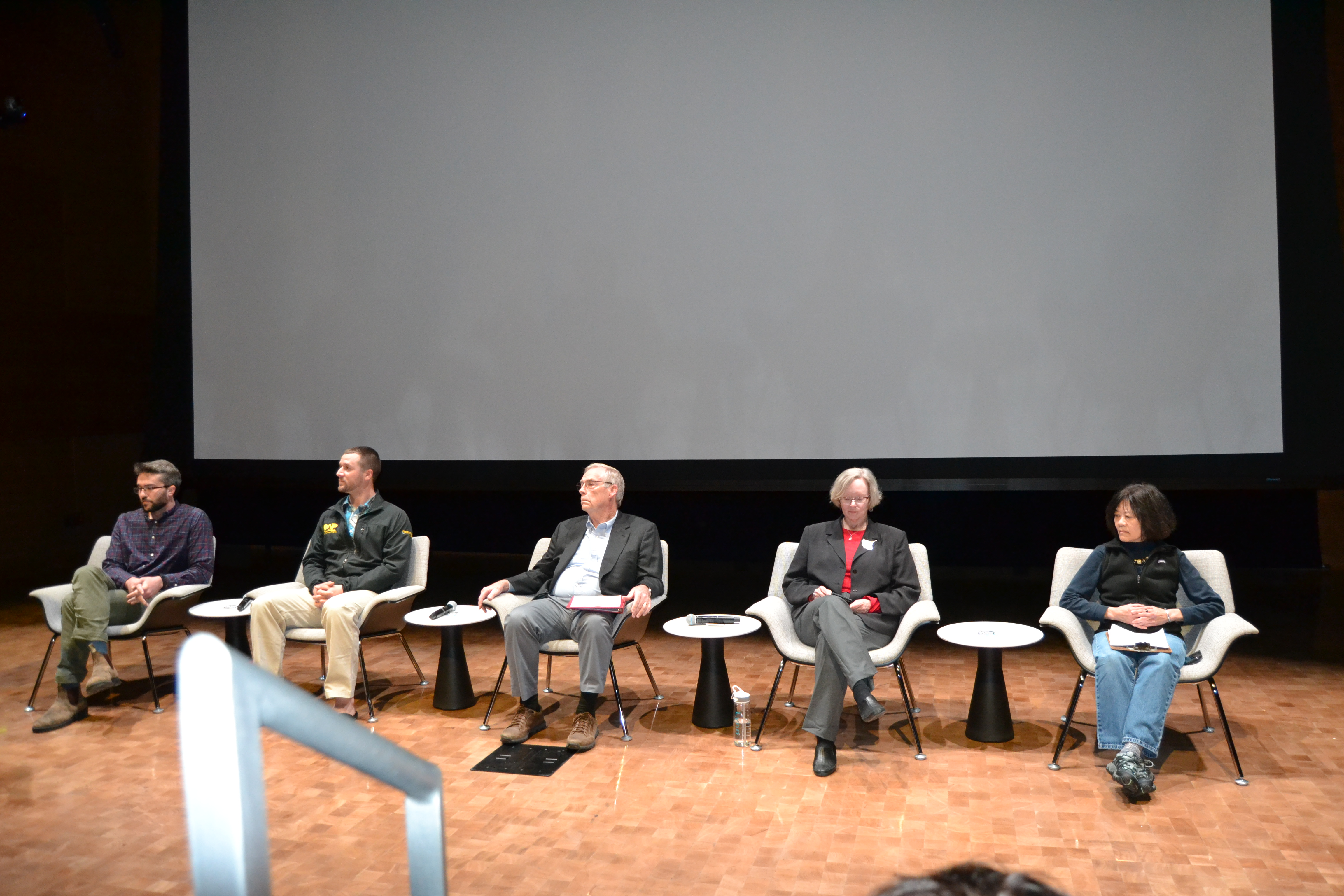 A panel of five experts are ready to take questions from the audience at the ICA