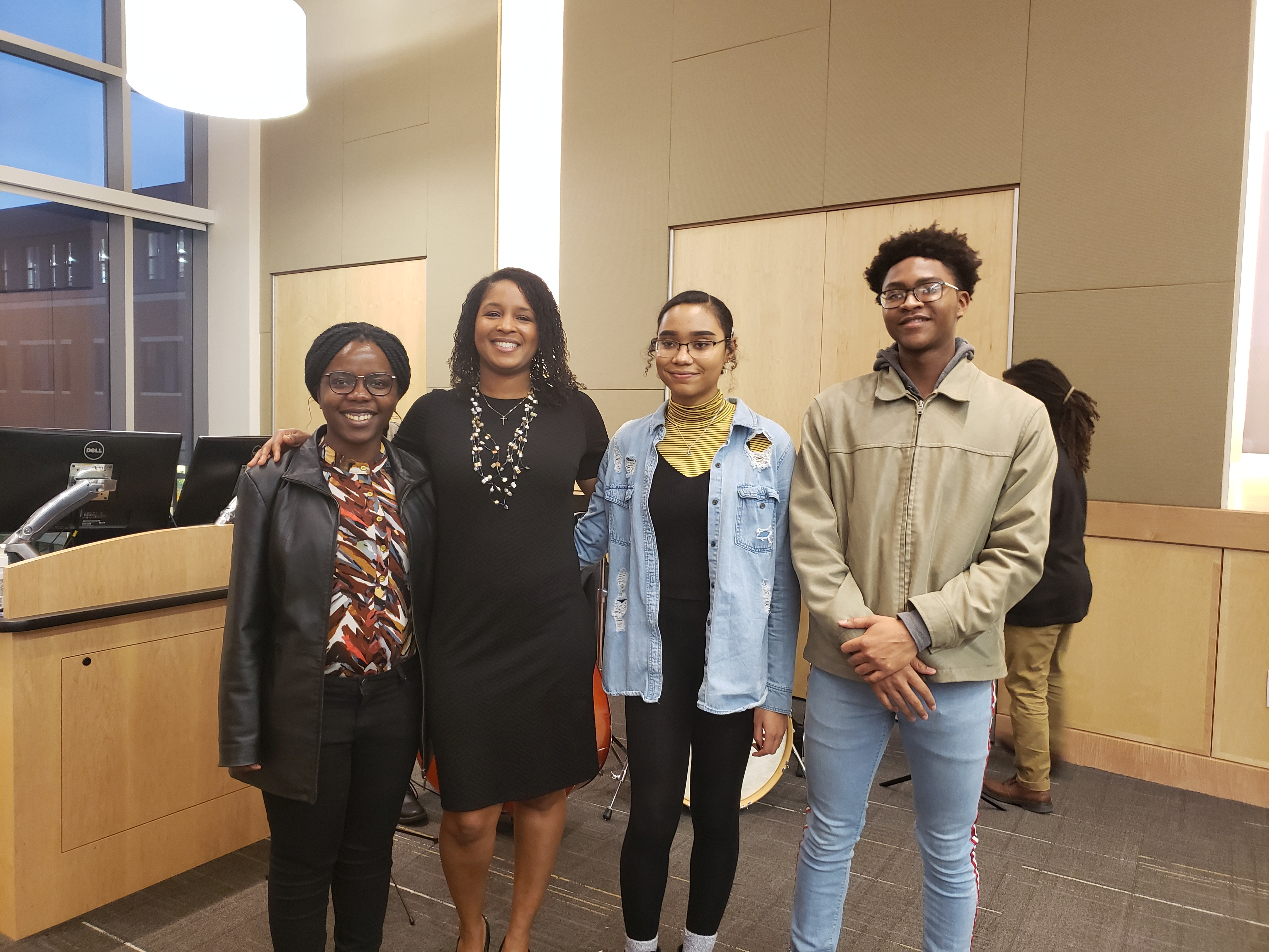Four students who are the recipient of the 2019 Life Sciences Black History in the Making awards